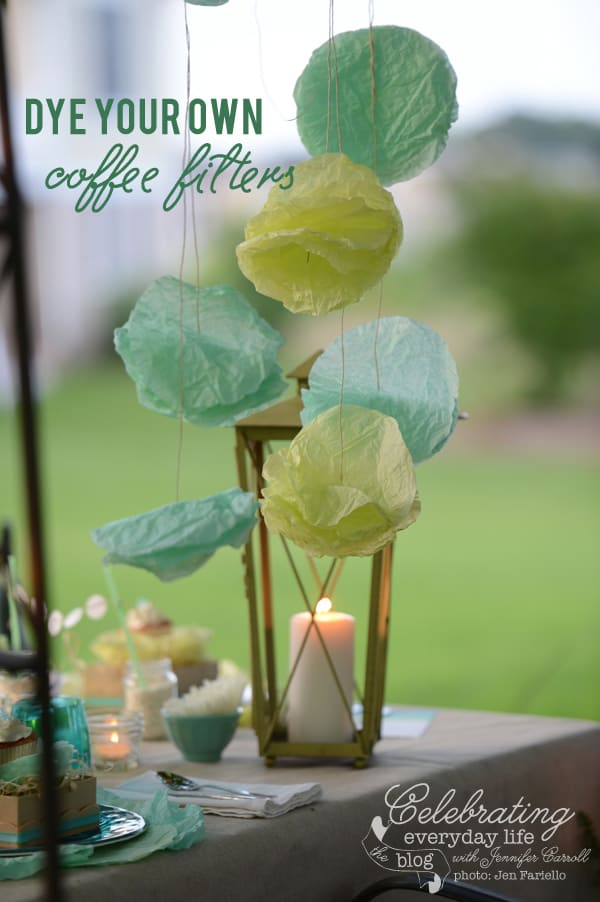 {a video tutorial} How to Dye Coffee Filters