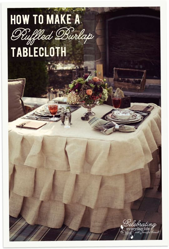 How To Make a Ruffled Burlap Tablecloth Tutorial, How to Sew a Ruffled Burlap Tablecloth Tutorial