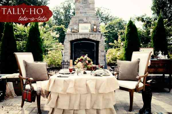 Tally-ho tete-a-tete, Romantic outdoor dinner for two, Ralph Lauren inspired dinner