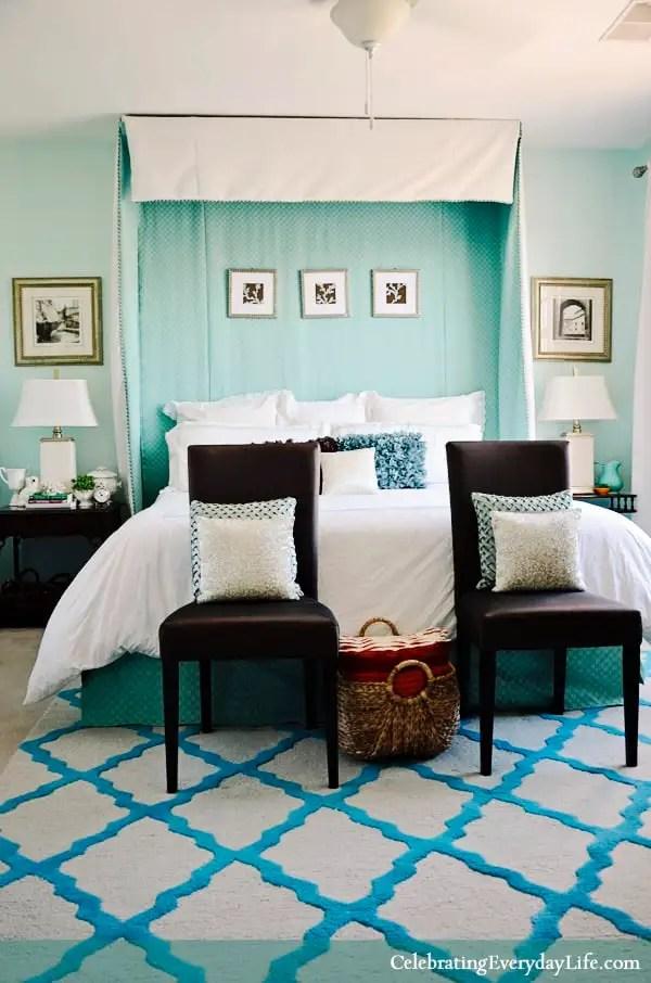My Aqua Bedroom, Celebrating Everyday Life blog