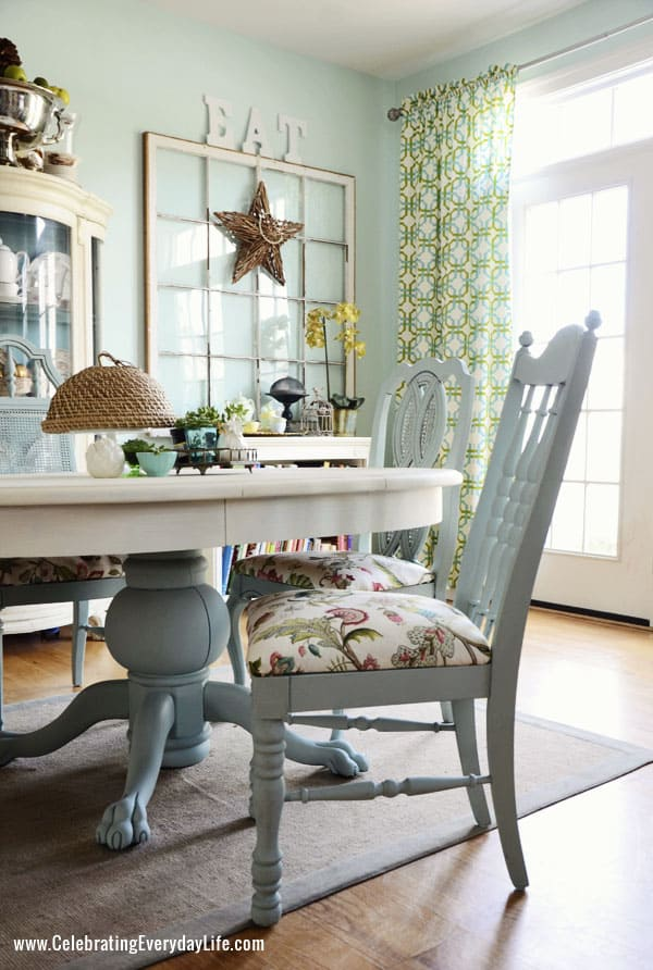 Dining Room Chair In Annie Sloan Chalk Paint Duck Egg And Cushion P