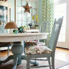 What Kind Of Fabric For Dining Room Chairs Ikea Gilbert Chair How To Recover A Easily In Annie Sloan Chalk Paint Duck Egg And Cushion P