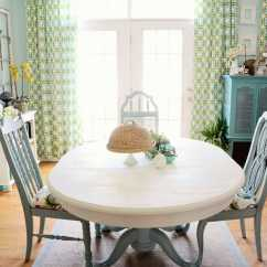 Painted Tables And Chairs Banquet Chair Cap Covers How To Save Tired Dining Room With Chalk Paint Right Now Table Makeover Annie Sloan Old White