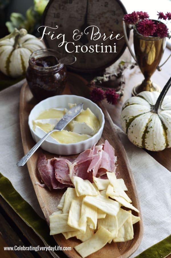 Fig & Brie Crostini {Delicious Fall Appetizer}