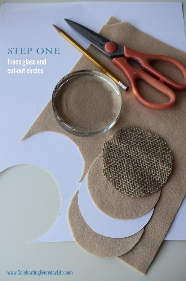 {DIY Gift} A Burlap & Lace Paperweight with Martha Stewart