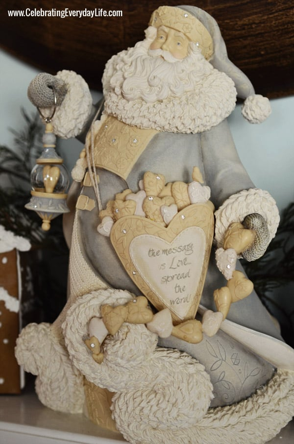 Blue and White Santa, Celebrating Everyday Life with Jennifer Carroll