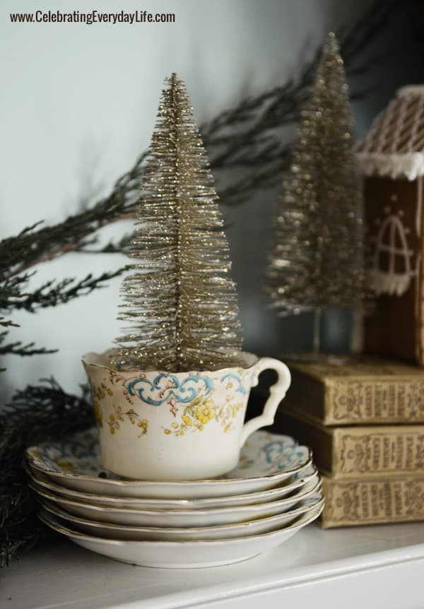 Tea Cup with Silver Christmas Tree, Celebrating Everyday Life with Jennifer Carroll