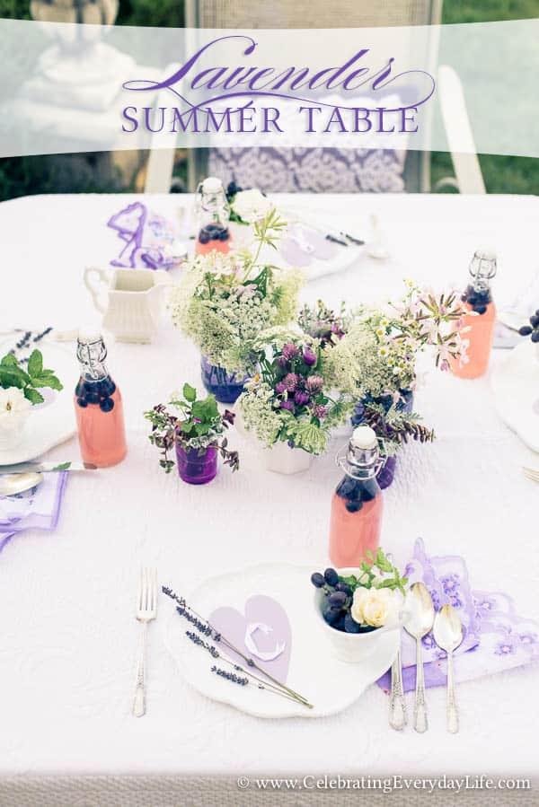 Lavender Summer Table
