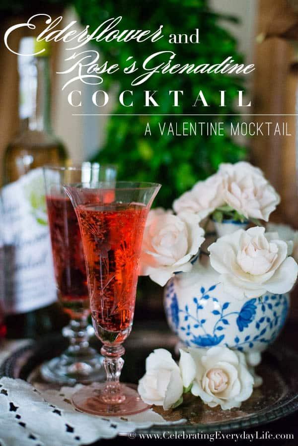 Valentine Cocktail Recipes: Elderflower Valentine Cocktail Recipe