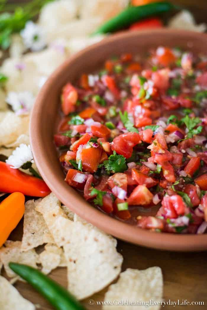 Garden Tomatoes, Homegrown Tomatoes, Homemade Salsa recipe, Easy Salsa recipe, Summer Tomato Recipe, Celebrating Everyday Life with Jennifer Carroll