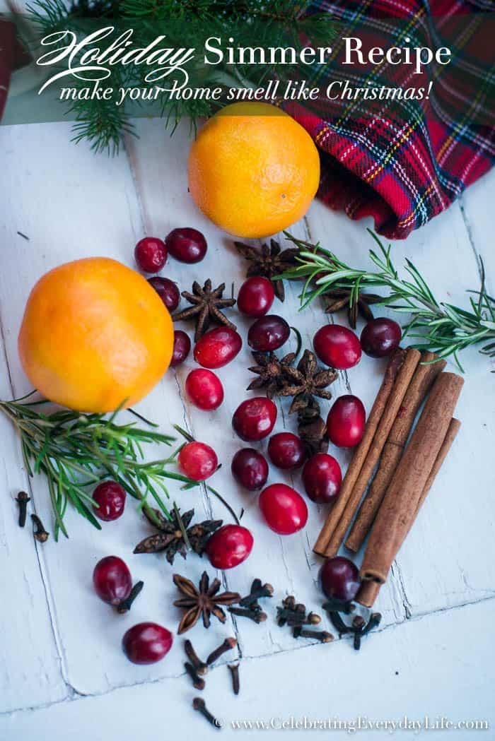 How To Make Your Home Smell Like Christmas Celebrating