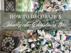 How To Decorate A Shabby Chic Christmas Tree | Celebrating Everyday Life with Jennifer Carroll | www.CelebratingEverydayLife.com