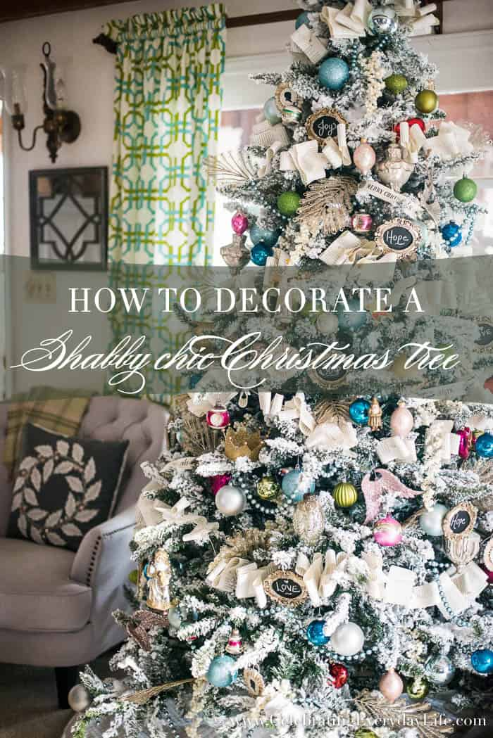 how to decorate a shabby chic christmas tree celebrating everyday life with jennifer carroll