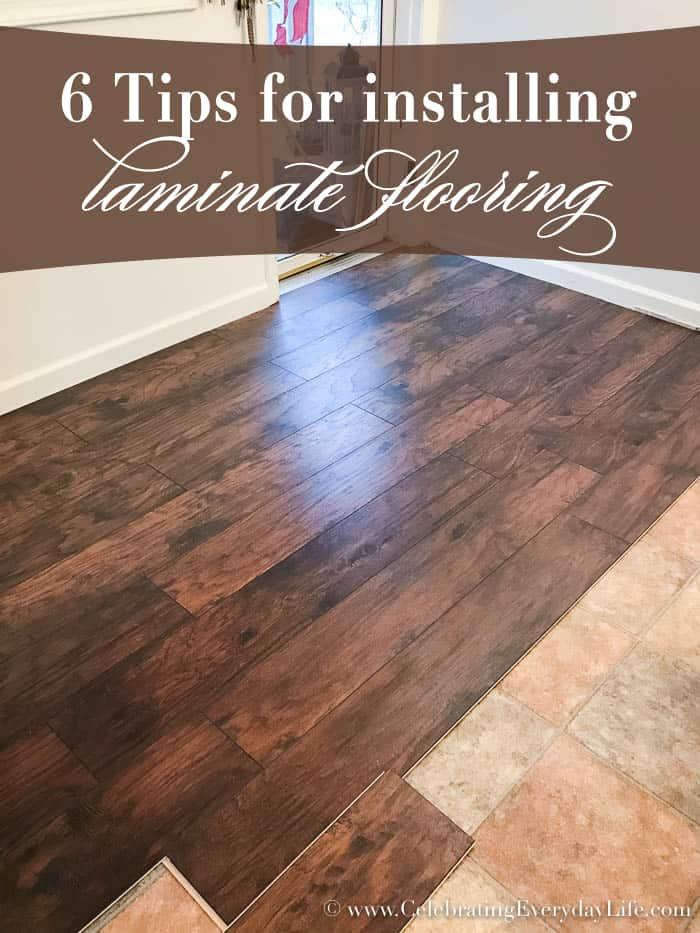 6 tips for installing laminate flooring celebrating for Laminate flooring tips