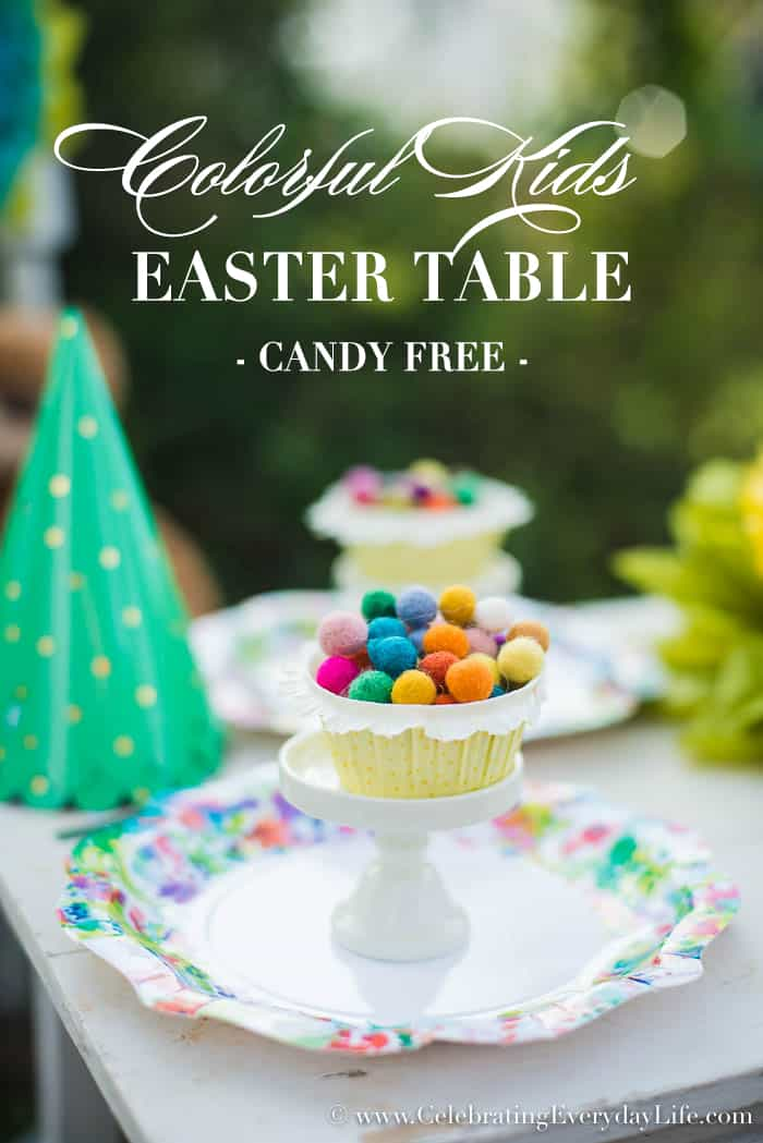 Colorful Kids Easter Table – Candy Free!