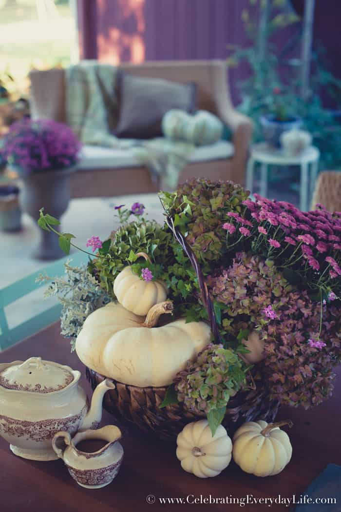 How to Make an Easy Purple Fall Floral Arrangement, Easy Fall Decorating Ideas!
