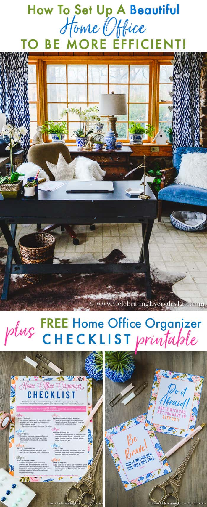 How To Set Up A Beautiful Home Office To Be More Efficient