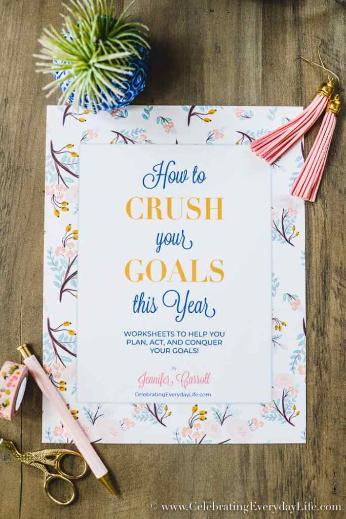 How to Crush Your Goals This Year. It's true that anybody can SET a goal, but actually ACHIEVING those goals can sometimes be a different story. Learn how to CRUSH your goals, every single time with these tried and true tips and PRINTABLES to help this truly be your BEST YEAR!