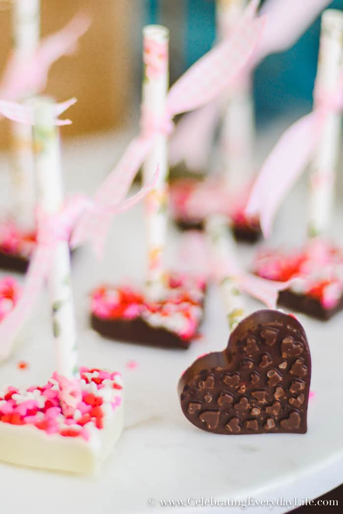 Hot Cocoa on a Stick, Sweet treat Valentine's Day buffet, How to Host a Fantastic Galentine's Day Party, How to Host a Fantastic Valentine's Day party, Valentine Party Tips, Valentine Party Ideas, Tips to host the best ever Valentine's Day party!, Tips to host the best ever Galentine's Day party!, What is a Galentine's Day Party? 11 tips to make your Galentine's Day/Valentine's Day party your best party this year!
