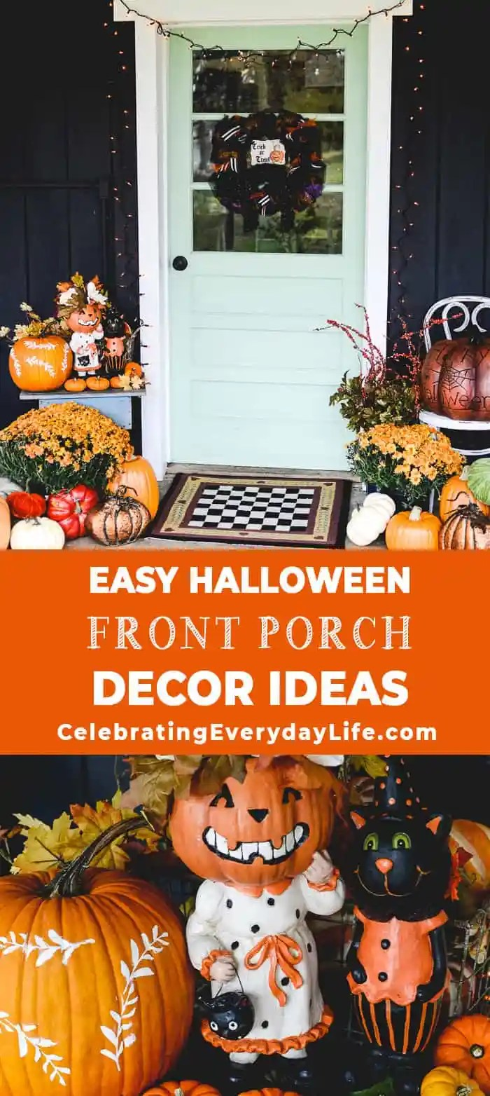 easy halloween front porch decor ideas