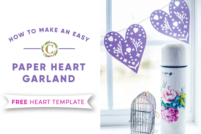 How to Make an Easy DIY Paper Heart Garland