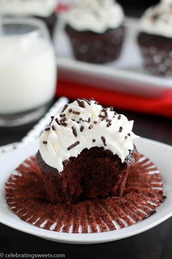 Small Batch Chocolate Cupcakes -3