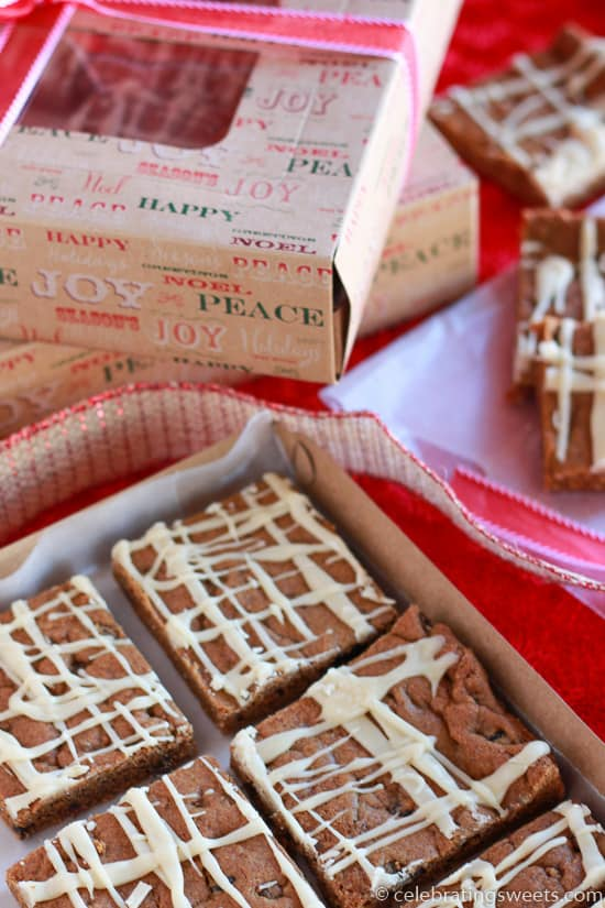 Chewy Ginger Molasses Cookie Bars_