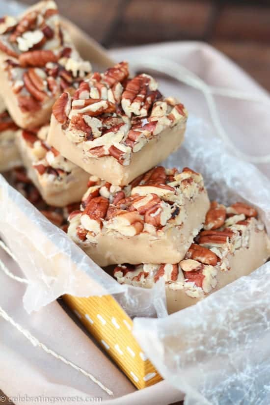 White Chocolate Pecan Fudge - Celebrating Sweets