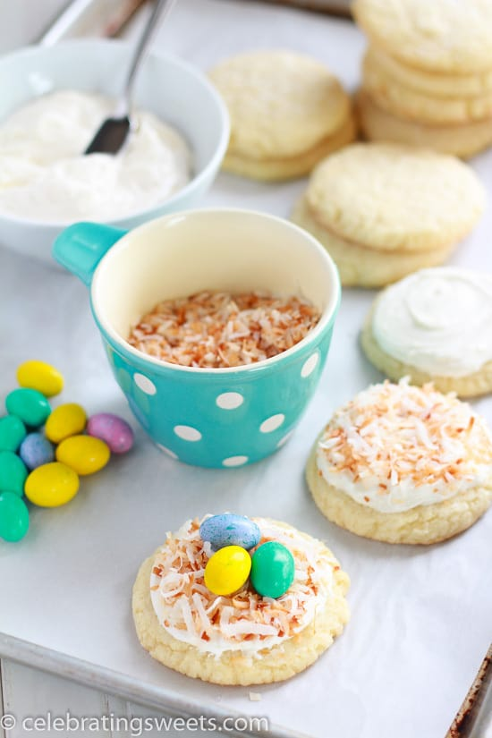 Sugar Cookie Bird's Nests - A fun and delicious Spring recipe