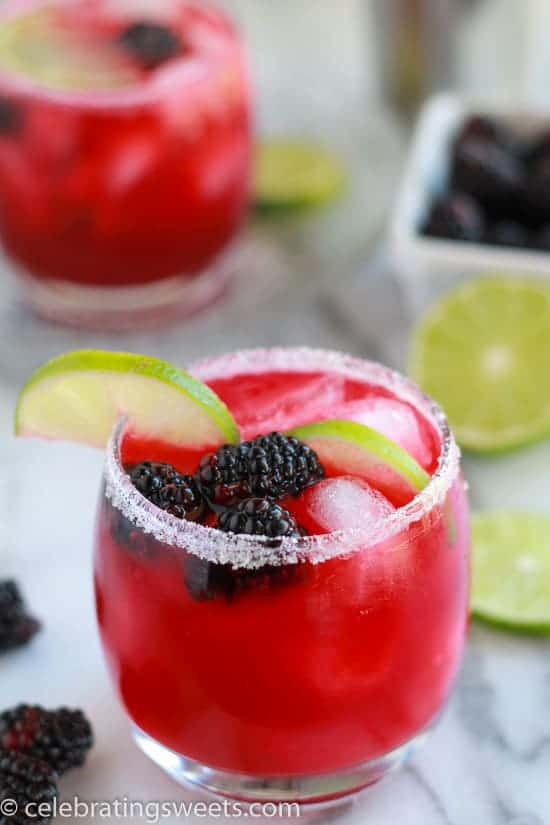 Blackberry Lime Margaritas