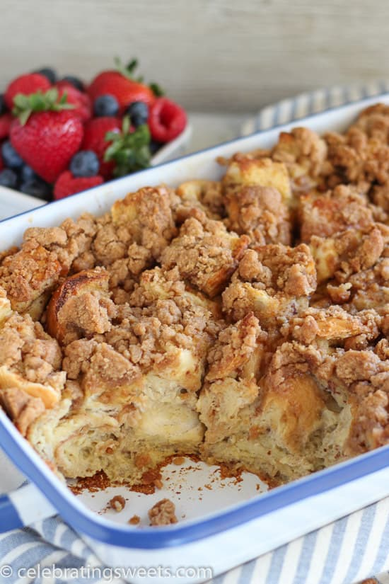 Baked french toast casserole overnight french toast with cinnamon cinnamon vanilla baked french toast an easy make ahead french toast casserole flavored with ccuart Images