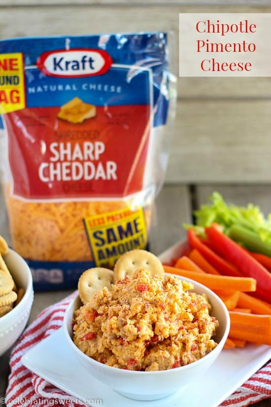 Chipotle Pimento Cheese - Smoky, spicy, and cheesy! Use it as a dip or spread.