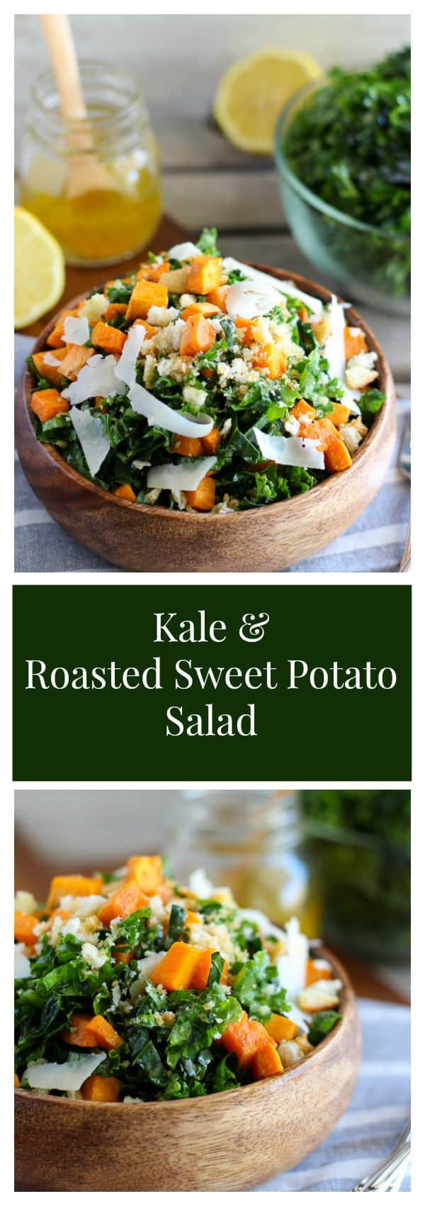 Kale and Sweet Potato Salad - Shredded kale, roasted sweet potatoes ...