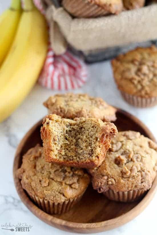 Whole Grain Peanut Butter Banana Bread Muffins
