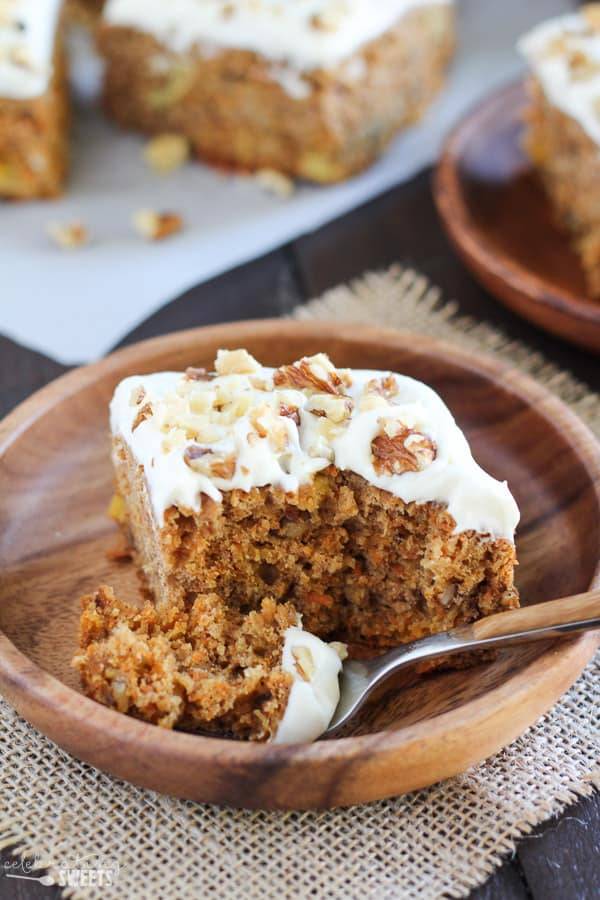 Healthy Carrot Cake Naturally Sweetened and Whole Grain