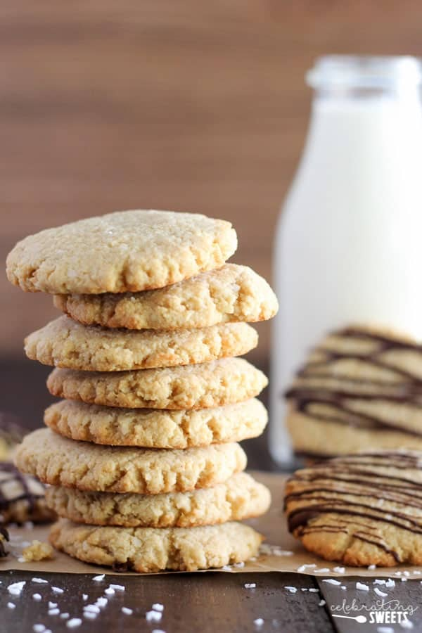 Gluten Free Coconut Almond Cookies - Soft and chewy cookies loaded with a double dose of almond and coconut. Drizzle with chocolate or eat them plain. You'll LOVE them!