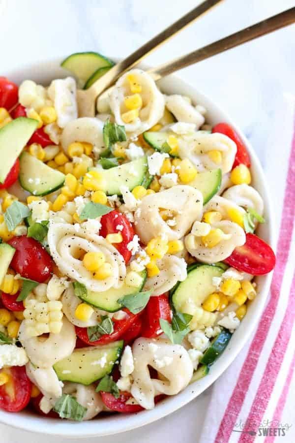 Corn, Tomato and Tortellini Pasta Salad
