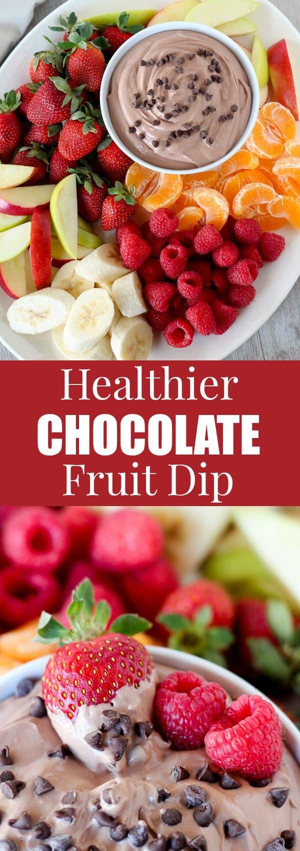 Healthier Chocolate Fruit Dip