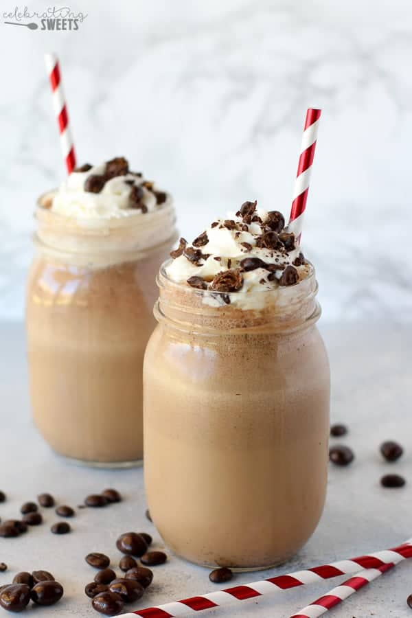 Espresso Chip Frappe - A quick and easy Frappe filled with the flavors of espresso, sweet cream coffee creamer and chocolate covered espresso beans.