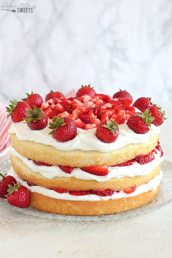 Strawberry Shortcake Cake Celebrating Sweets
