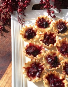 These brie and dark cherry phyllo cups are the perfect appetizer for your holiday gatherings.