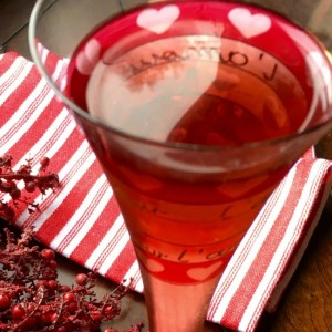 Recipe for Sparkling Pomegranate Cocktail. Christmas Drink Recipes
