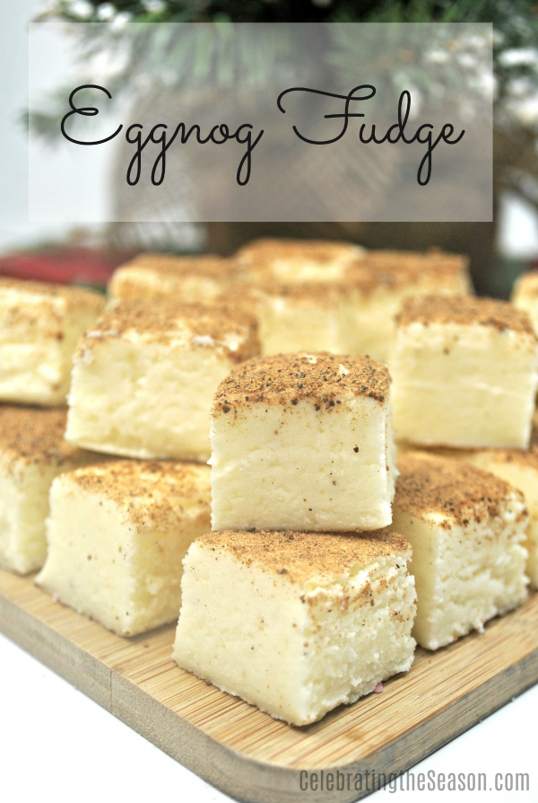 This delicious Eggnog Fudge recipe combines two holiday favourite treats and is super easy to make.