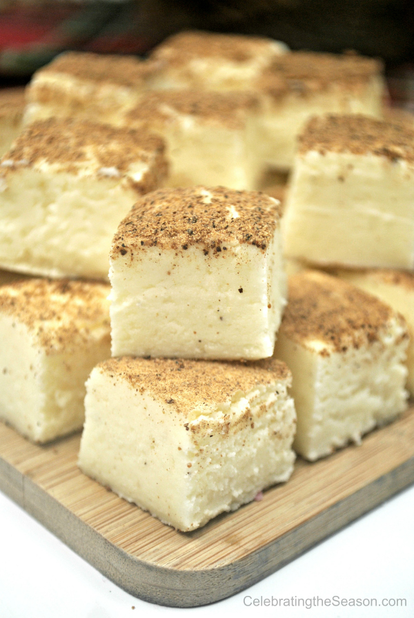 Holiday dessert recipes: Easy Eggnog Fudge