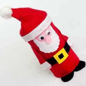 Tutorial for cute felt Santa craft.