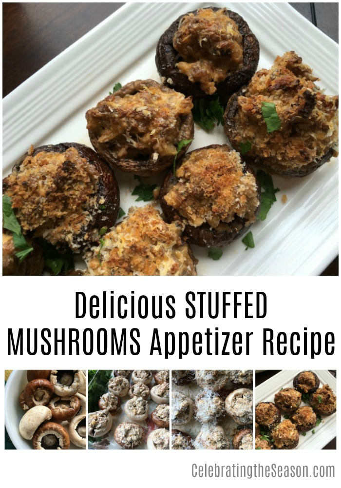 Delicious Stuffed Mushrooms Appetizer Recipe - this recipe is sure to be a big hit at all your holiday get-togethers!