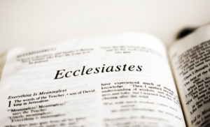 Ecclesiastes – Lead Pastor Wayne Lebak