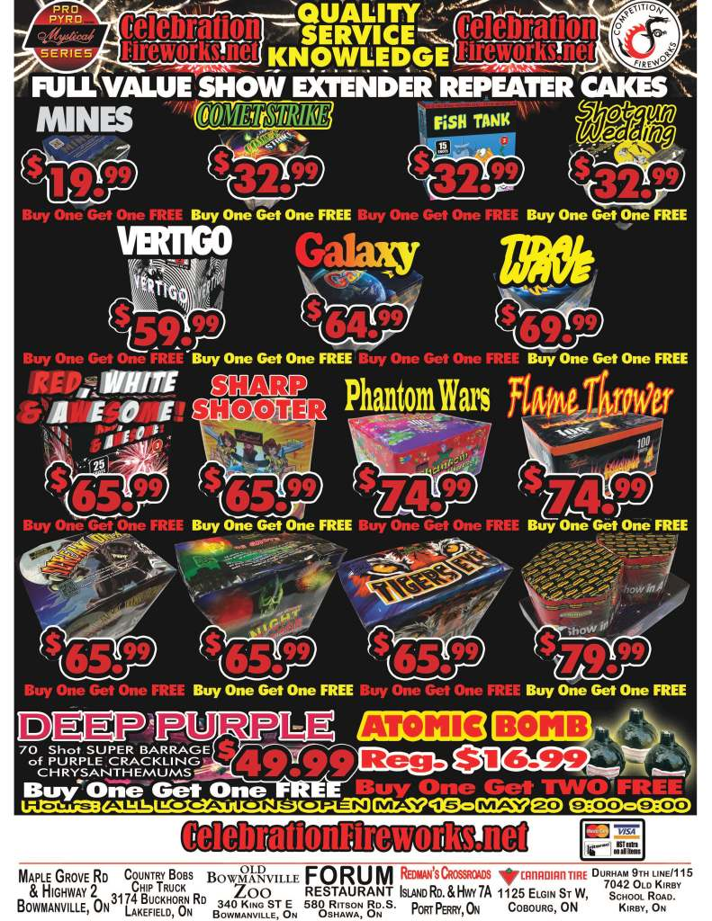 Advertising Fireworks sale