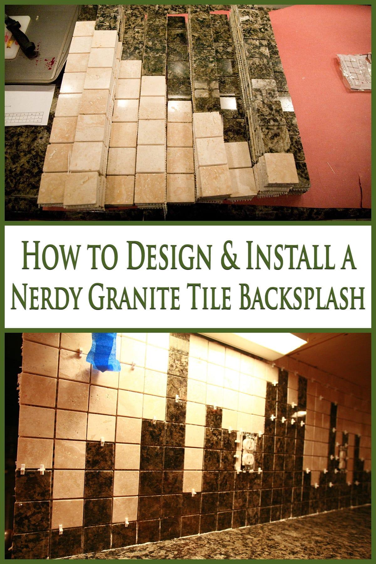 how to design a nerdy tile backsplash