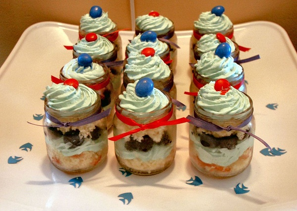 baby shower dessert parfaits